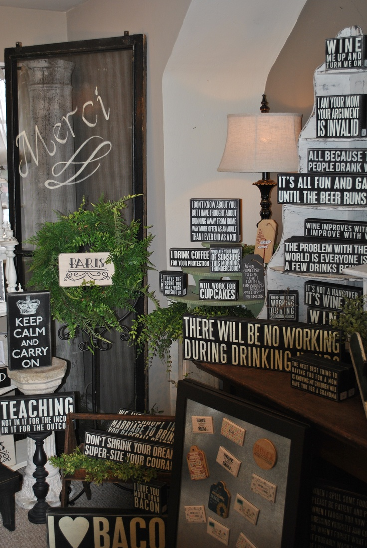 Black & White Box Signs! The perfect gift!