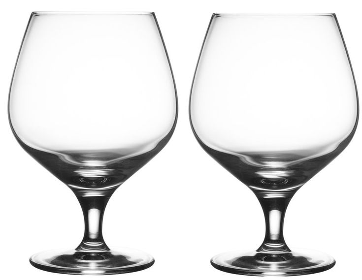Set of 2 Lead Free Large Crystal Brandy Glasses Stemmed Cognac Wine Glass  #Rayware #Contemporary