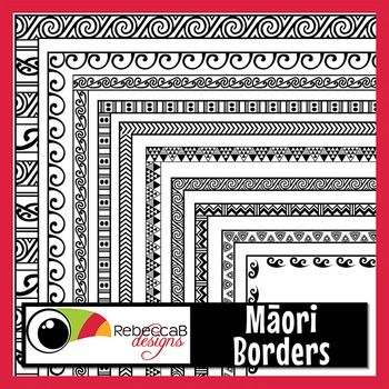 Maori Borders contains 18 letter size doodled borders with a contemporary take on traditional Maori patterns.  Inspired by Koru, Kowhaiwhai and Tukutuku.  White fill and transparent of each for a total of 36 images and they will fit right to the edge of a page.