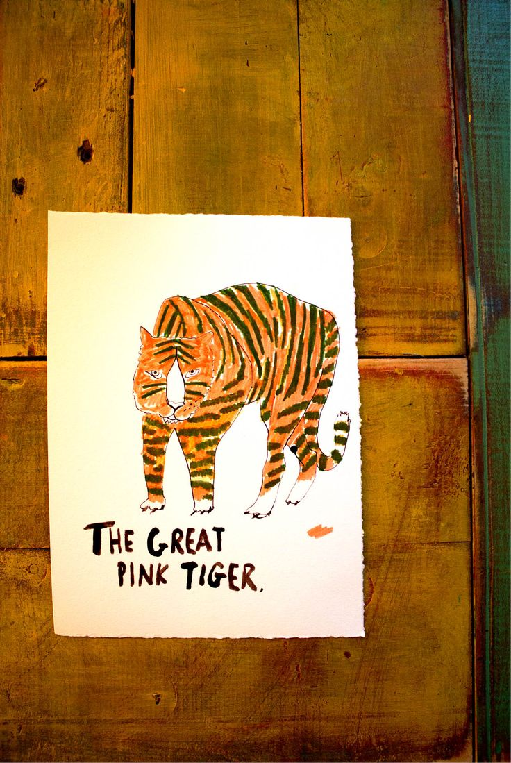 The great pink tiger www.dianaellinger.com