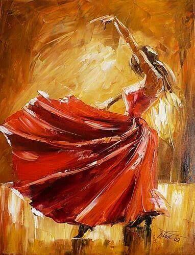 Landscape Paintings Of Dancers For Sale
