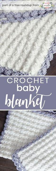 Os melhores cobertores de bebê de crochê grátis para meninas
