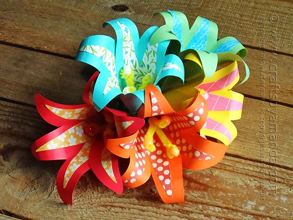 How to make paper flowers with a tropical theme! by Amanda Formaro of Crafts by Amanda