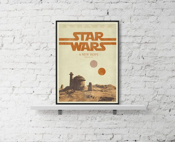 STAR WARS Inspired A New Hope Movie Wall Poster by BaydleCreative