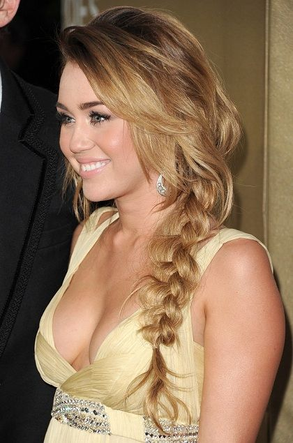 A messy, side braid is easy to do yet can make a dressy outfit look a lot more casual and fun