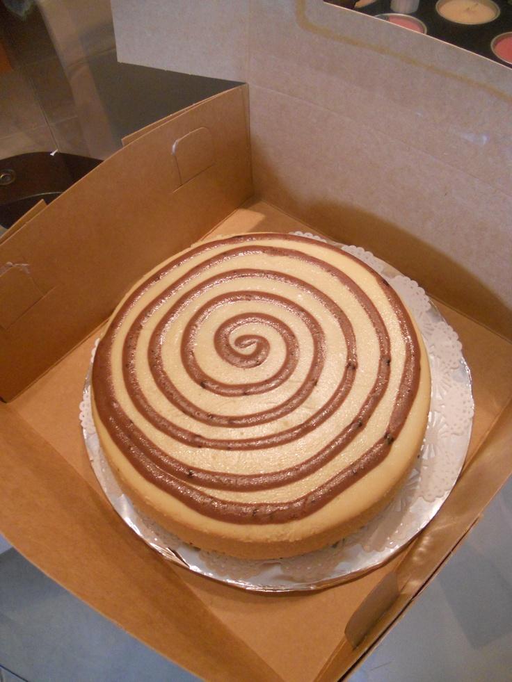 Swirls of cheesecake
