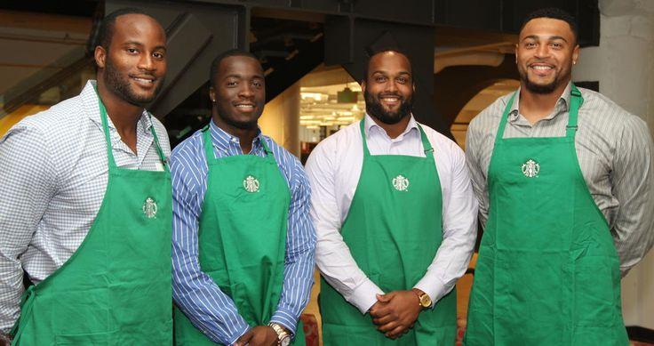 Mixing #Seahawks & #Starbucks? #HAWKSOME!!!! -  Players Plan For The Future With Starbucks Job Shadow Program   Seattle Seahawks