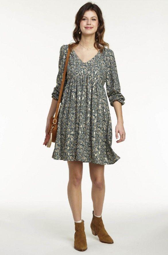 fee5684e9c4 Robe ample imprimée imprime - robes femme - naf naf 1