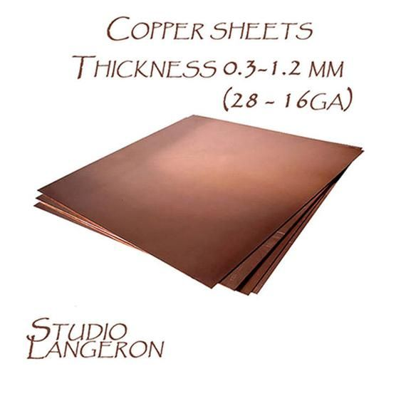 Natural Copper Sheets Thickness 0 3 1 2 Mm 28 16 Ga Size 10h10 And 20h20 Cm Natural Copper Copper Copper Plates Sheets Copper 1 Piece Copper Sheets Copper Copper Plated