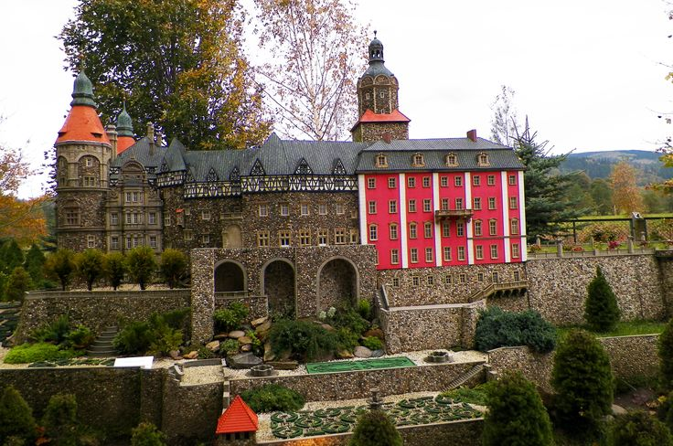Model of the Castle Książ- Miniature Park in Kowary