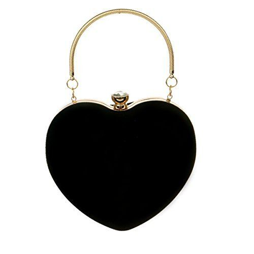 New Trending Tote Bags: Mily Women Suede Velvet Heart Shape Evening Bag Purse Party Bag Tote with a Chain and handle Ring Black. Mily Women Suede Velvet Heart Shape Evening Bag Purse Party Bag Tote with a Chain and handle Ring Black  Special Offer: $21.99  499 Reviews Very pretty and elegant evening bag. Neither too big nor too small. Luxury material will make you charming, sexy and elegant. This bag will make...