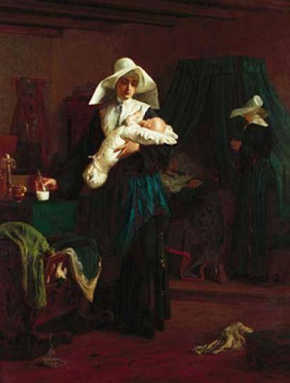 Székely Bertalan (1835-1910) - Az apáca