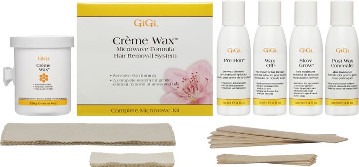 Creme Wax Microwave Kit Includes A Gentle Formula Recommended For Sensitive Skin Gigi