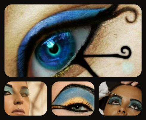 maquillaje egipcio actual