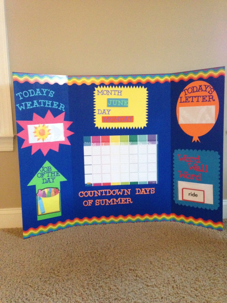 My summer school circle time board!