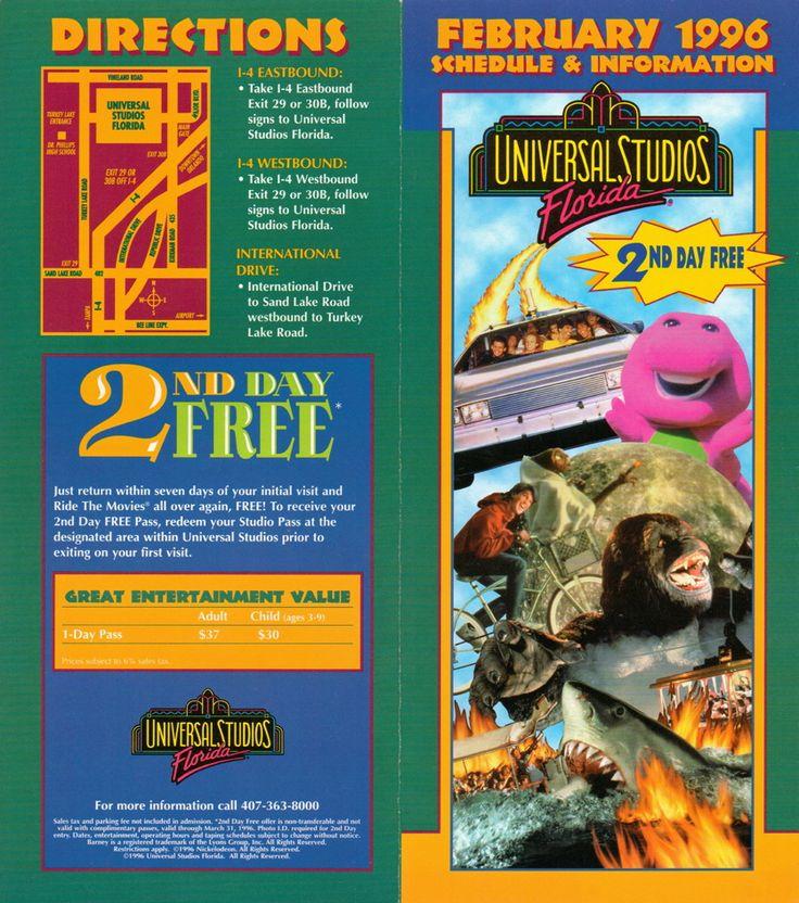 Universal Studios Florida Brochure  Universal Studio Theme Parks