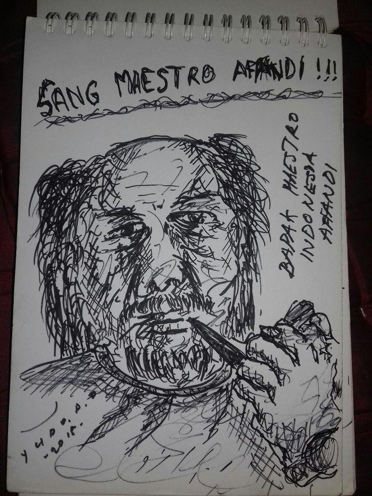 "Goresan-goresan liarku. ""Sang maestro indonesia Affandi"""