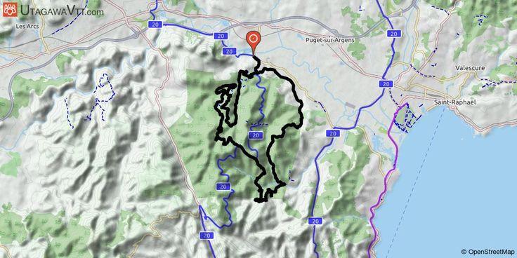 [Var] Roc All Mountain 2016 (hors organisation) Ce tracé est l'un des parcours proposés au Roc d'Azur 2016. Il reprend le tracé du Roc All Mountain de 2015 mais allégé sur la fin.  Cependant l'intérêt du parcours reste le même à savoir des passages en singles techniques que ce soit en descente, à plat ou en montée, de belles pistes forestières permettant de prendre de l'altitude, et de voir de beaux paysages.