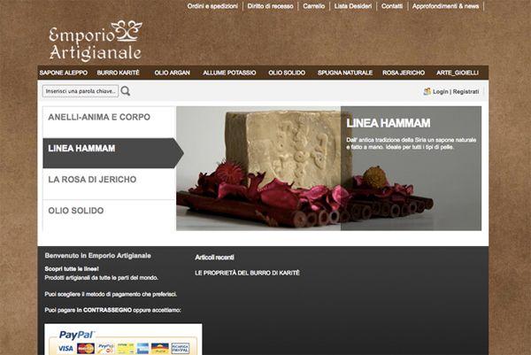 Ideazione e realizzazione del #sito ecommerce www.emporioartigianale.it Sviluppo creativo e gestione dei contenuti del sito.