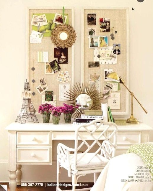 Diy inspiration boards with crown molding cork board for Cork board inspiration