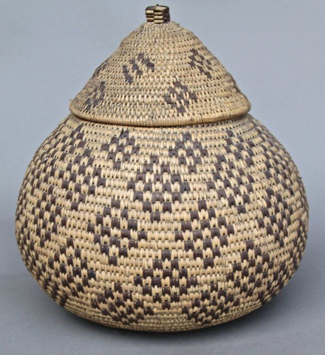 African Baskets With Lids: Indian Woven Baskets With Lids