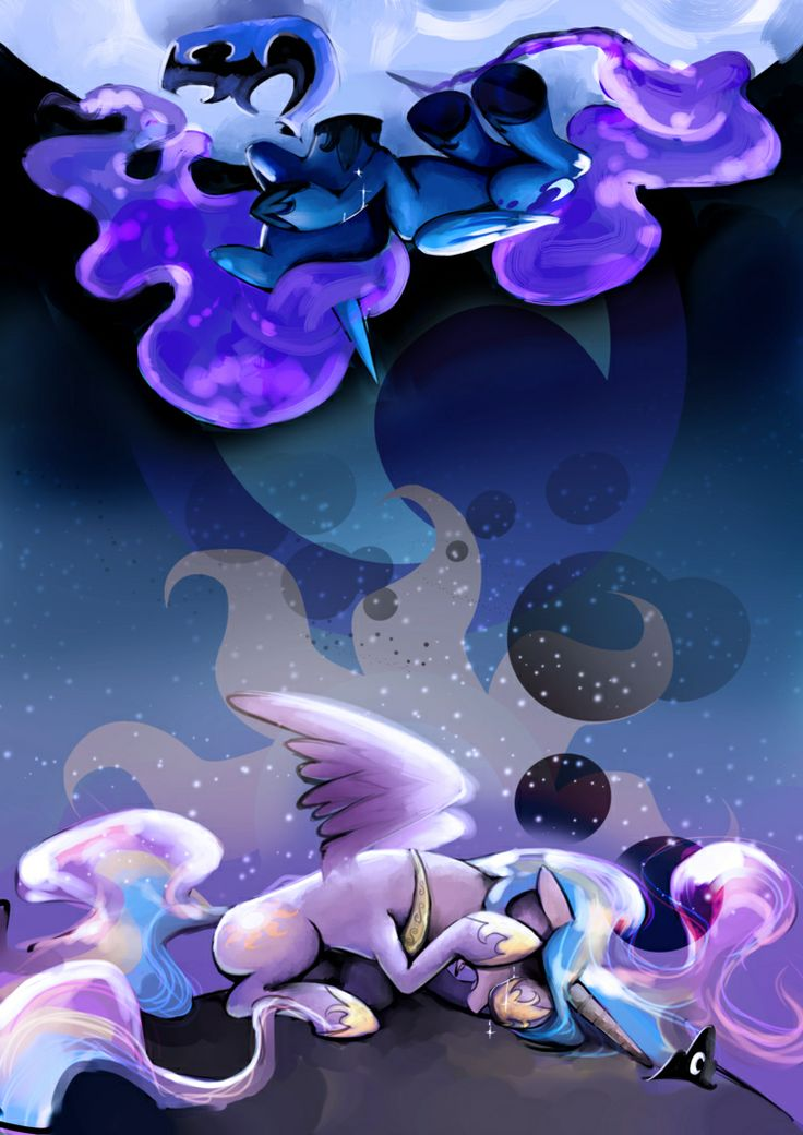 Why did you just leave her there, why did you never try to help her, help her with this. She's your sister Celestia, not just some pony you've never met