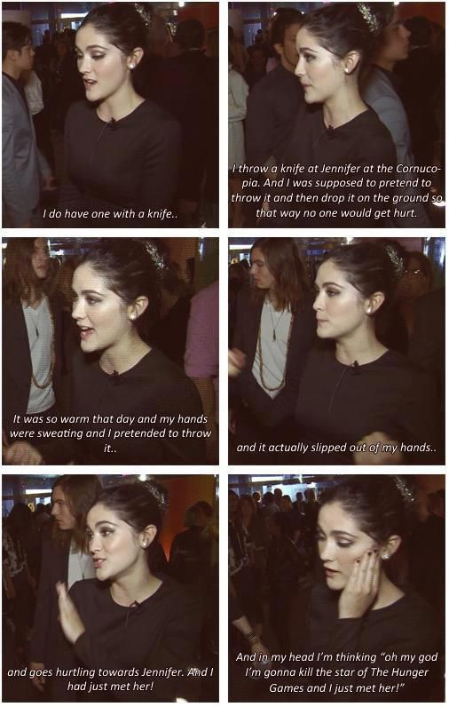 Isabelle talks about how she threw a knife at Jen after she only just met her