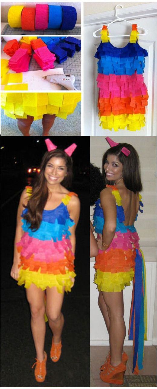 DIY Pinata Costume diy halloween halloween costumes diy halloween costumes costume ideas halloween costumes for adults couples costumes