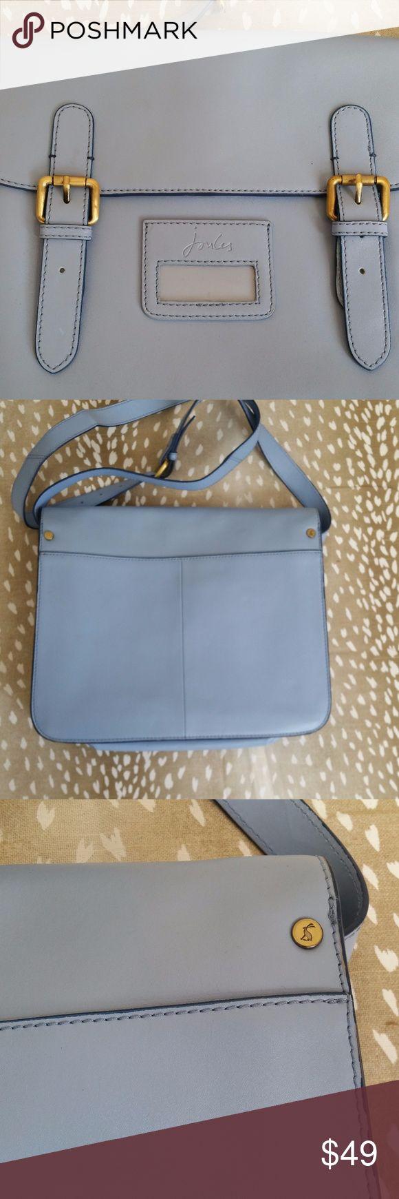 Joules Blue Leather Satchel Bag Style: Women's Leather Satchel  Brand: Joules  Measurements: Height 24 Weight 35.5  Color: Blue  Condition: Good Joules Bags Satchels