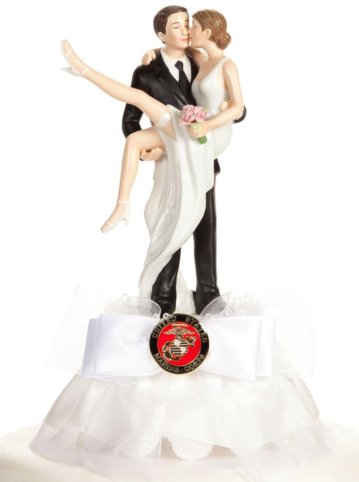 "Wedding Collectibles Military ""Over the Threshold"" Cake Topper- Air Force - Navy - Army - Marines: Skirt Color: IVORY - Seal: ARMY"