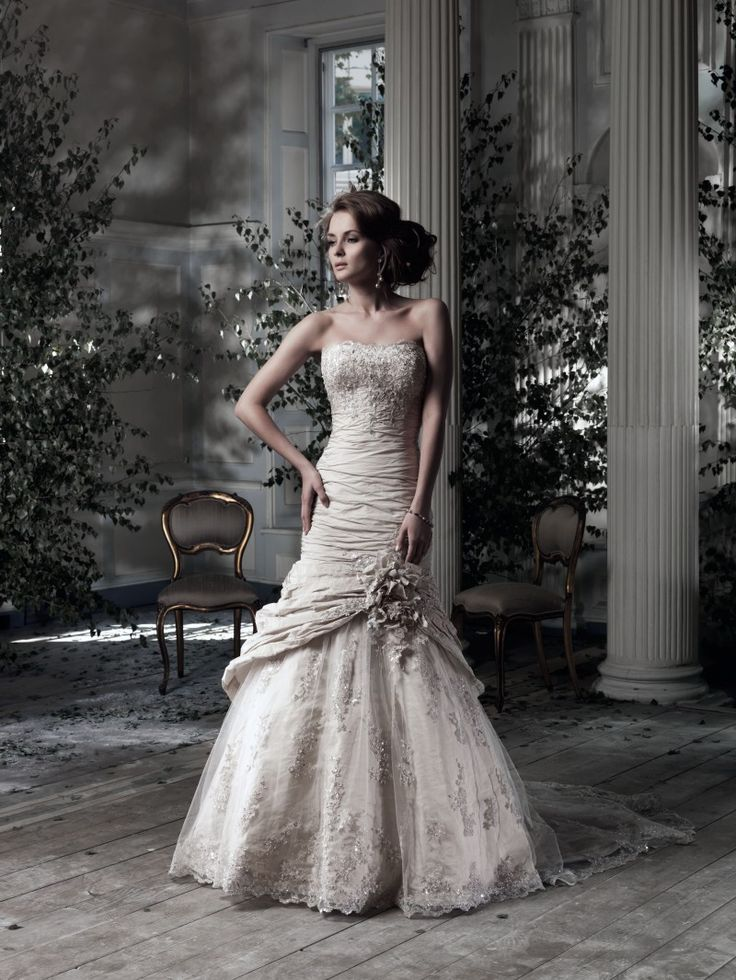 Nova Scotia | Ian Stuart Bride Bridal Gowns: Ian Stuart Mermaid Wedding Dress with Strapless Neckline and No Waist/Princess Seams Waistline Style Number:32838179 Price:$ ($2000 - $3000)