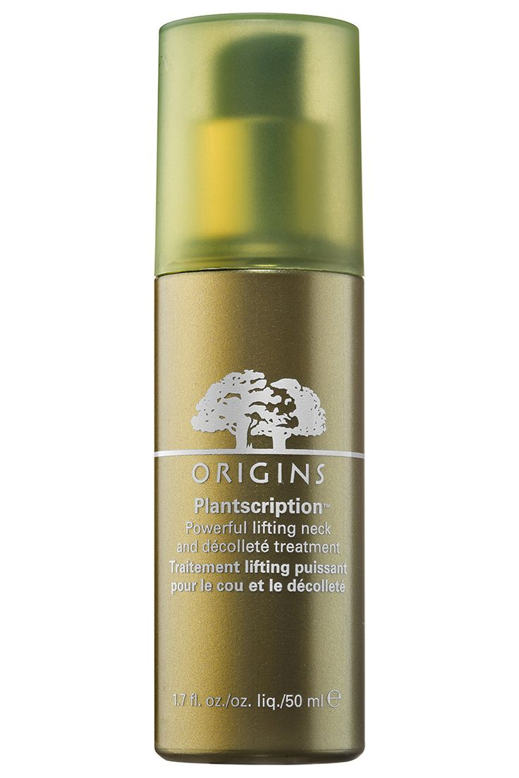 Take preventative measures against neck and chest damage with this plant-based serum that uses anogeissus—antioxidant-rich African tree bark that functions like an all-natural retinoid—to target age spots and fine lines. Origins Plantscription Powerful Lifting Neck & Décolleté Treatment, $60, origins.com.    - HarpersBAZAAR.com