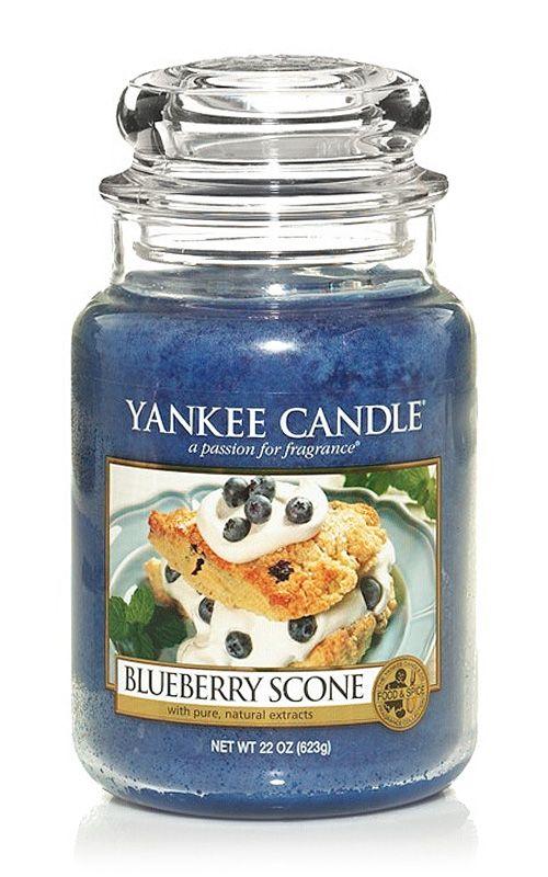 Yankee Candle – vonná svíčka Blueberry Scone, velká
