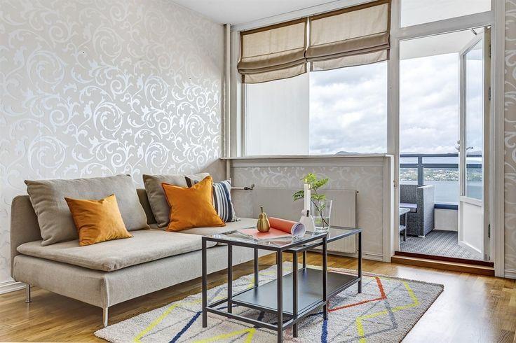 FINN – Ytre Sandviken - Attraktiv 2 roms m/stor balkong og fantastisk utsikt. Heis i bygget.