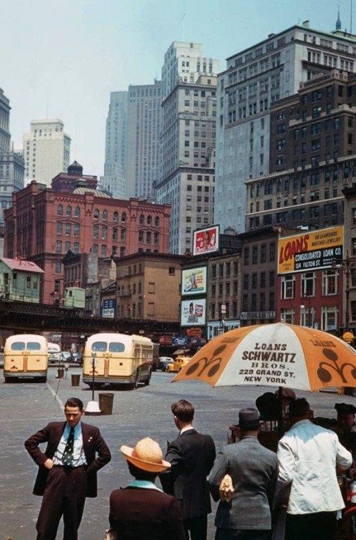 Colour photographs of New York City, 1941