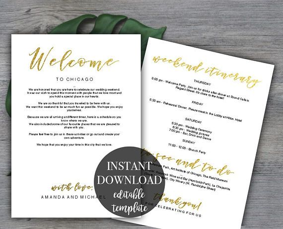 The  Best Wedding Itinerary Template Ideas On