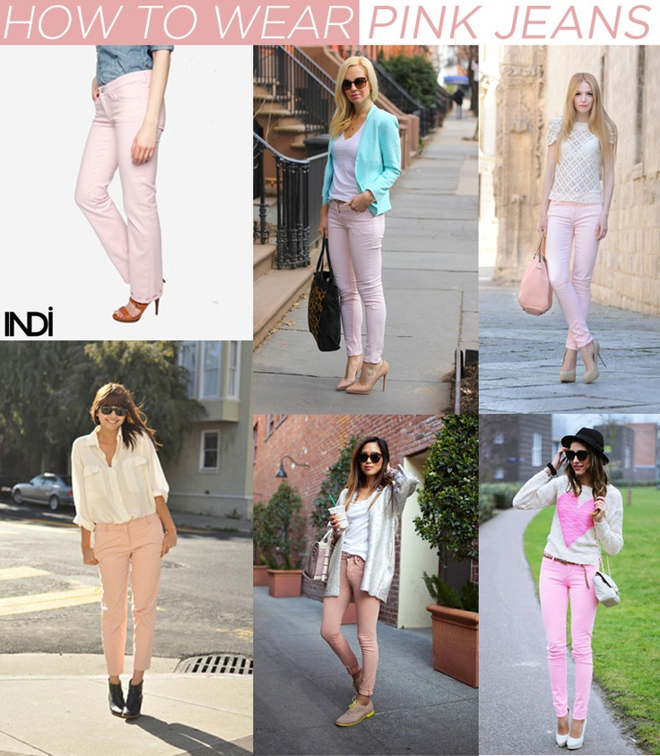 how to wear... pink jeans