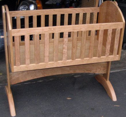 Cherry Baby Cradle - by dbriski @ LumberJocks.com ~ woodworking community