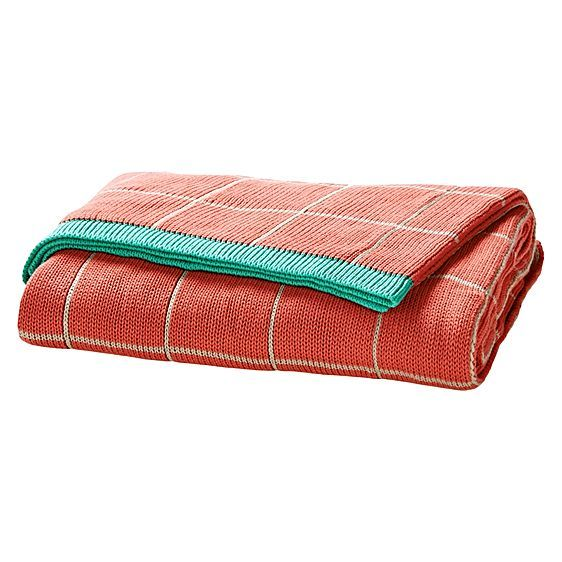Lattice Throw, Neon Coral by Aura by Tracie Ellis