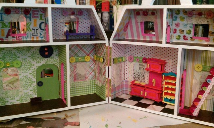 Unpainted Wooden Dollhouse From Michaels Wooden
