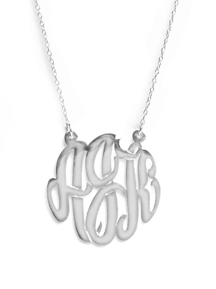 monogramFashion, Monograms Necklaces, Bauble Bar, Medium Monograms, Style, Baublebar, Monograms Pendants, Jewelry, Monogram Necklace