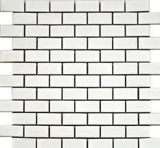 white brick tiles black grout - Google Search