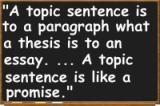 Examples of Effective Topic Sentences: Morton A. Miller, <i>Reading and Writing Short Essays</i> (Random House, 1980)