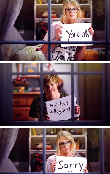 |ALLEGIANT HUMOR|<--- THERE IS NOT SUCH THING AS ALLEGIANT HUMOR