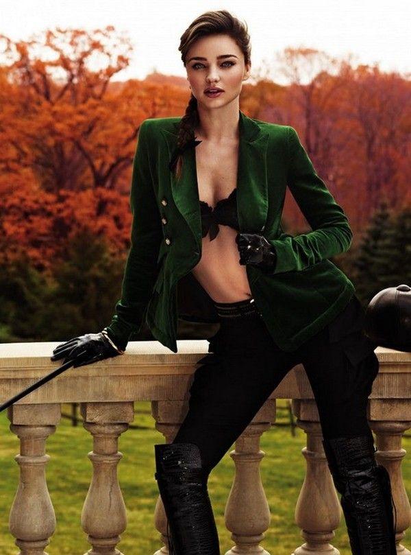Miranda Kerr en cavalière chic pour Harper's Bazaar UK ...