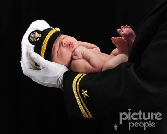 Crochet US Navy Hat Navy Officer Hat Military Hat by CrochetbyPalm, $35.00