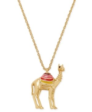kate spade new york Gold-Tone Camel Pendant Necklace - Gold