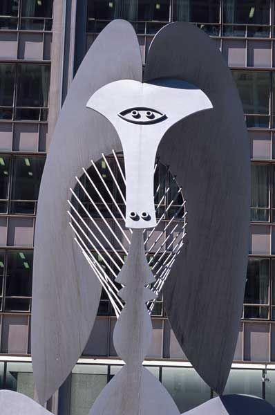 Chicago Picasso Escultura  Artista: Pablo Picasso Período: Cubismo Género: Arte abstracto Ubicación: Richard J. Daley Center Fecha de creación: 1967