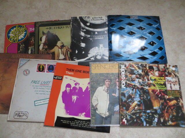 Eerste klas Rock Pop LP's; Various Artists - veel van negen (9) LP's uit de jaren zestig en vroege jaren zeventig  2LP Spencer Davis Group Featuring Steve Winwood-Chronik Pop - eiland 87213 XCT - GER - 1973Spencer Davis Group - Gimme sommige Lovin ' - eiland (roze rand) 88 168 XAT - HOL - 1971Ze - ze (nog een keer) - Decca XBL 646 005 - HOL - 1966 vinyl heeft haarlijnenDe gratis - gratis Live! -Eiland ORL 8393 - IT - 1971Moody Blues - aan onze kinderen kinderen - drempel THS1 - UK - 19692LP…