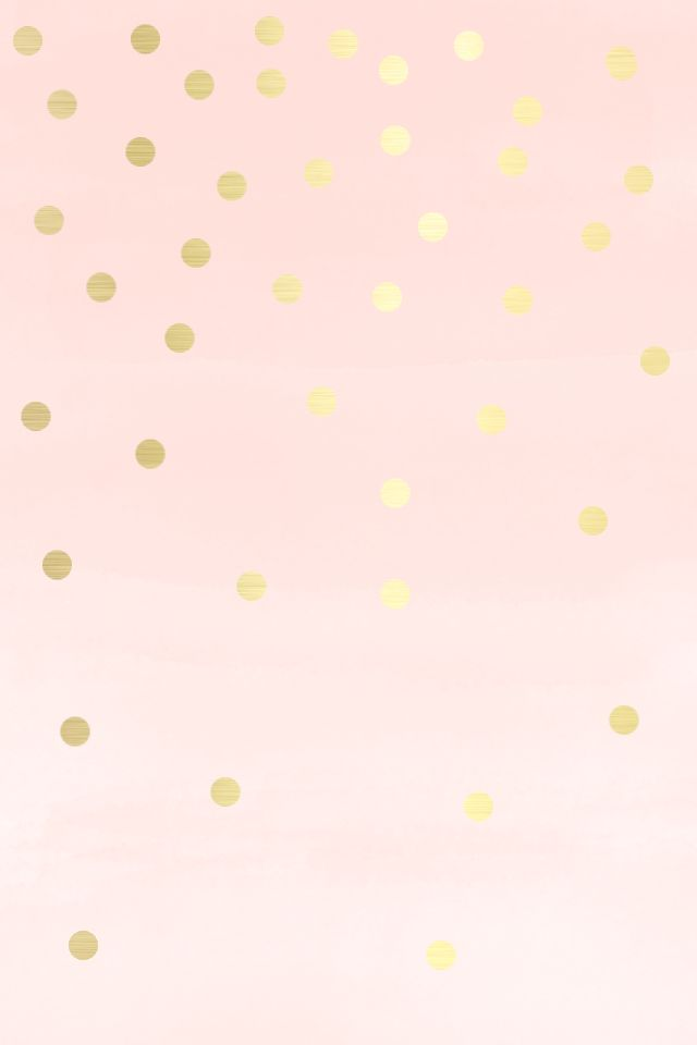 Lovely Blush soft Pink gold spots dots iphone wallpaper phone background lock screen